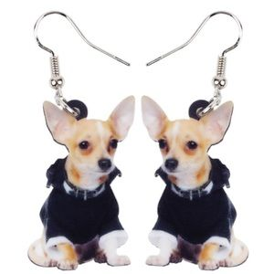 Chihuahua Wearing A Jacket Acrylic Earrings